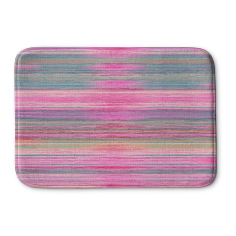 Kavka Designs Pink/Purple/Blue Abstract Sunset Memory Foam Bath Mat