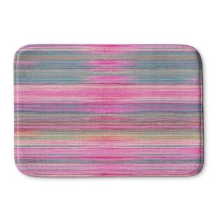 Kavka Designs Pink/Purple/Blue Abstract Sunset Memory Foam Bath Mat