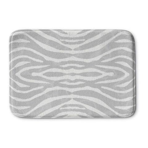 Kavka Designs Grey/Ivory Safari Memory Foam Bath Mat