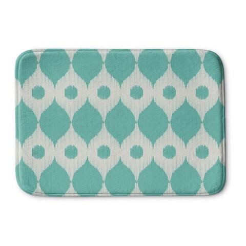 Kavka Designs Blue/Ivory Forrest Rain Memory Foam Bath Mat