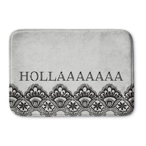 Kavka Designs Black/Grey Hollaaaaaa Memory Foam Bath Mat