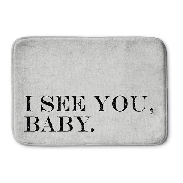 Kavka Designs Grey/Black I See You Baby Memory Foam Bath Mat