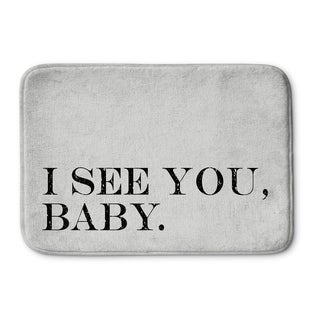 Kavka Designs Grey/Black I See You Baby Memory Foam Bath Mat