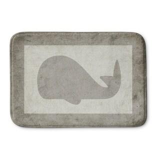 Kavka Designs Grey/Ivory Gray Whale Memory Foam Bath Mat