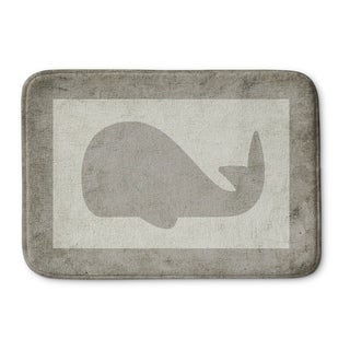 Kavka Designs Grey/Ivory Gray Whale Memory Foam Bath Mat