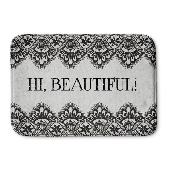 Shop Kavka Designs Grey Black Hi Beautiful Memory Foam