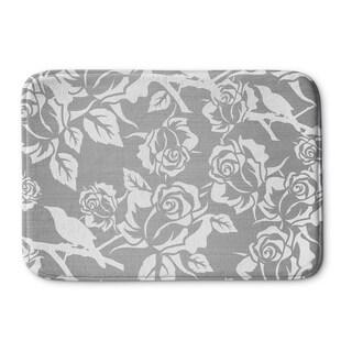 Kavka Designs Grey/White Silver Metallic Garden Reverse Memory Foam Bath Mat