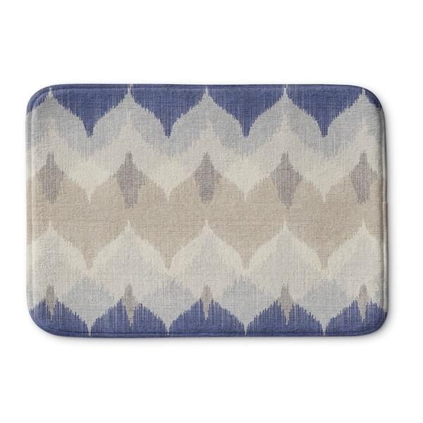 Kavka Designs Blue/Ivory/Tan Aria Memory Foam Bath Mat