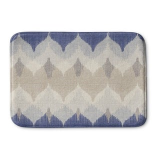 Kavka Designs Blue/Ivory/Tan Aria Memory Foam Bath Mat