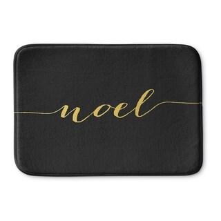 Kavka Designs Black/Gold Noel Memory Foam Bath Mat