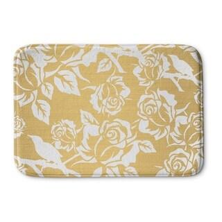Kavka Designs Gold/White Gold Metallic Garden Reverse Memory Foam Bath Mat