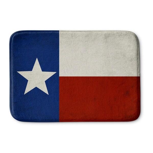 Kavka Designs Blue/White/Red Texas Flag Memory Foam Bath Mat