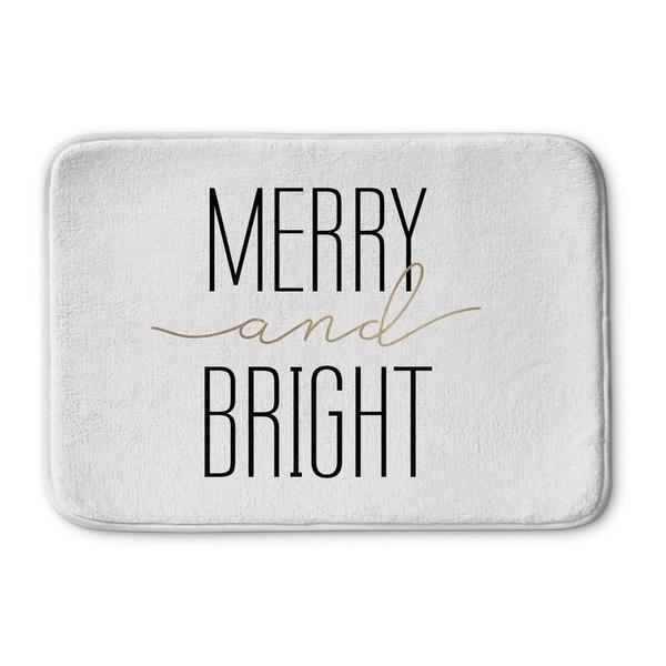 Kavka Designs White Merry And Bright Memory Foam Bath Mat