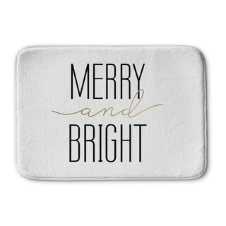 Kavka Designs White Merry And Bright Memory Foam Bath Mat