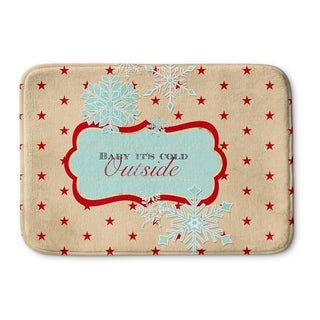 Kavka Designs Red/Peach/Blue Baby It's Cold Outside Memory Foam Bath Mat
