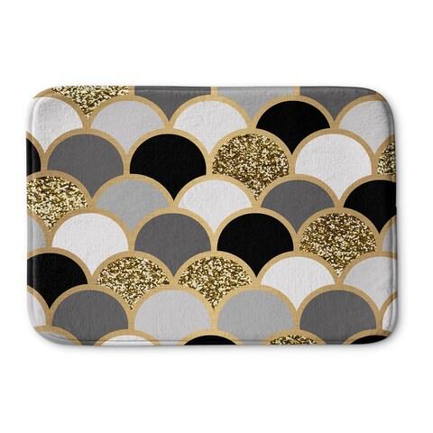 Kavka Designs Black/Grey/Gold/White Scales Memory Foam Bath Mat
