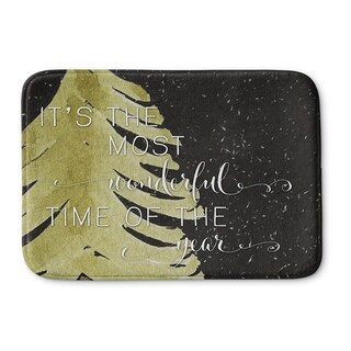 Kavka Designs Black/Gold Its The Most Wonderful Memory Foam Bath Mat