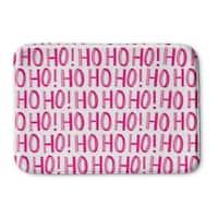 Kavka Designs Pink Ho Ho Ho Memory Foam Bath Mat