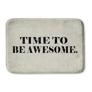 Kavka Designs Black/Ivory Time To Be Awesome Memory Foam Bath Mat