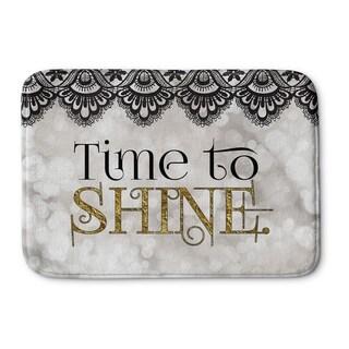 Kavka Designs Gold/Grey/Black Time To Shine Memory Foam Bath Mat