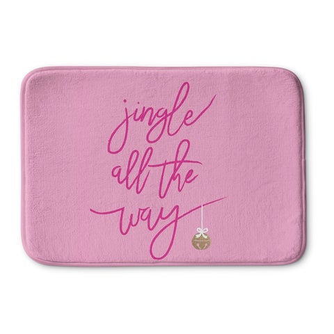 Kavka Designs Pink Jingle Memory Foam Bath Mat