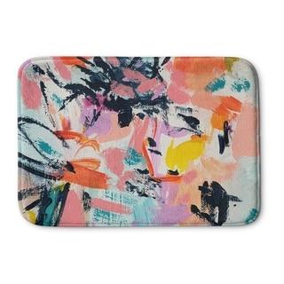 Kavka Designs Pink/Blue/Grey/Yellow/Orange Life Is Messy Memory Foam Bath Mat