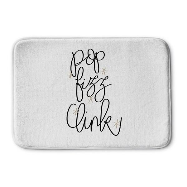 Kavka Designs White Pop Fizz Clink Memory Foam Bath Mat