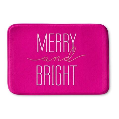 Kavka Designs Pink Merry And Bright Memory Foam Bath Mat