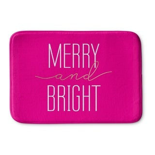 Kavka Designs Pink Merry And Bright Memory Foam Bath Mat