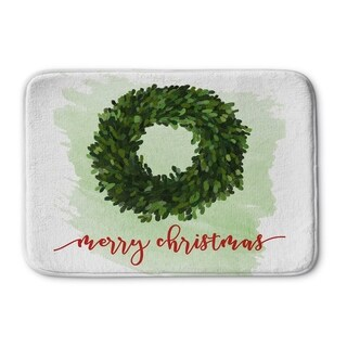 Kavka Designs Red/White/Green Merry Christmas Memory Foam Bath Mat
