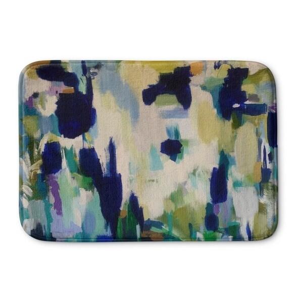 Kavka Designs Blue/Yellow/Gre/Green Beaker Beverages Memory Foam Bath Mat