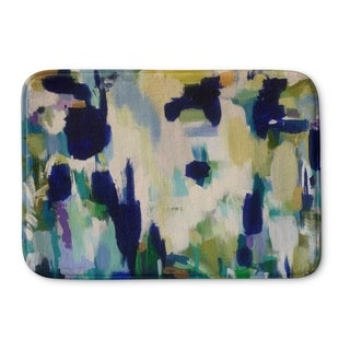 Kavka Designs Blue/Yellow/Gre/Green Beaker Beverages Memory Foam Bath Mat