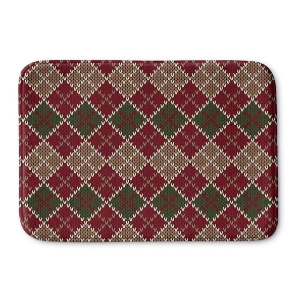 Kavka Designs Red/Green/Beige Christmas Memory Foam Bath Mat
