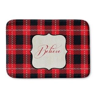 Kavka Designs Red/Black/Cream Believe Memory Foam Bath Mat