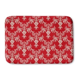 Kavka Designs Red/Ivory Christmas In Plaid Red Memory Foam Bath Mat