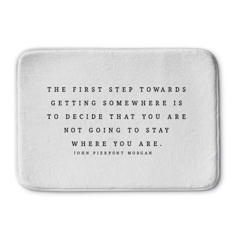 Kavka Designs Black/White The First Step Memory Foam Bath Mat