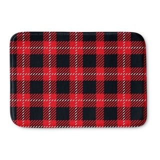 Kavka Designs Red/Black Christmas In Plaid Memory Foam Bath Mat (2 options available)