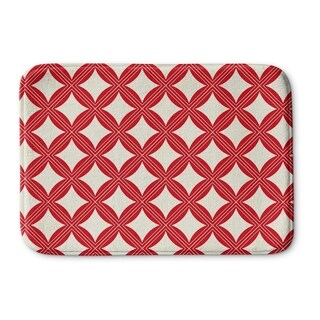 Kavka Designs Red/Ivory Christmas In Plaid Red Memory Foam Bath Mat (2 options available)