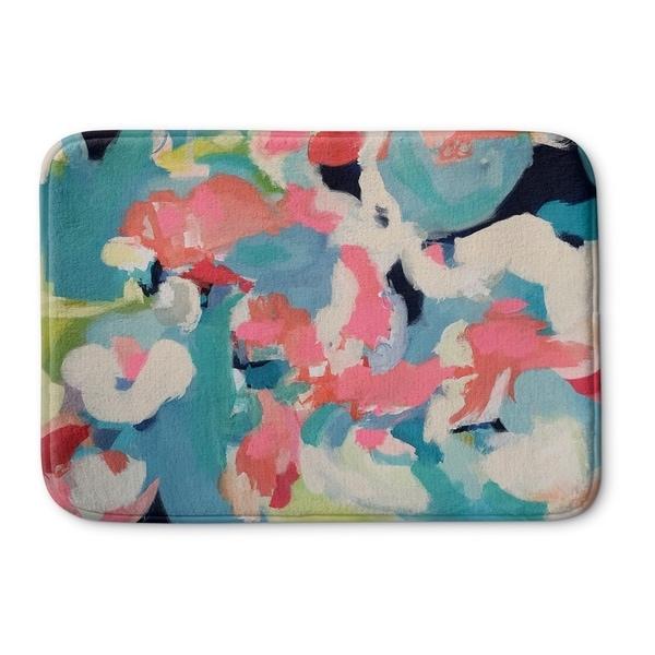 Kavka Designs Blue/Pink/Red/Green Party Peeps Memory Foam Bath Mat