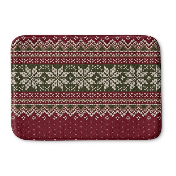 Shop Kavka Designs Red Green Grey Christmas Memory Foam