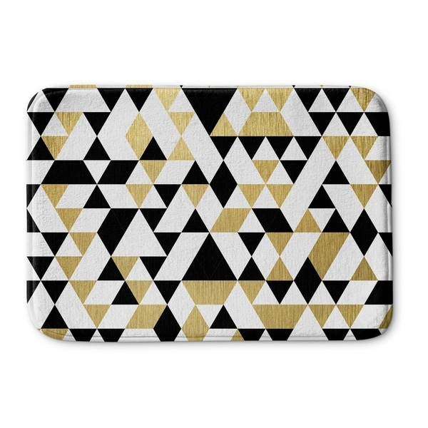 Kavka Designs Black/White/Gold Gold Black And White Memory Foam Bath Mat