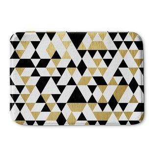 Kavka Designs Black/White/Gold Gold Black And White Memory Foam Bath Mat