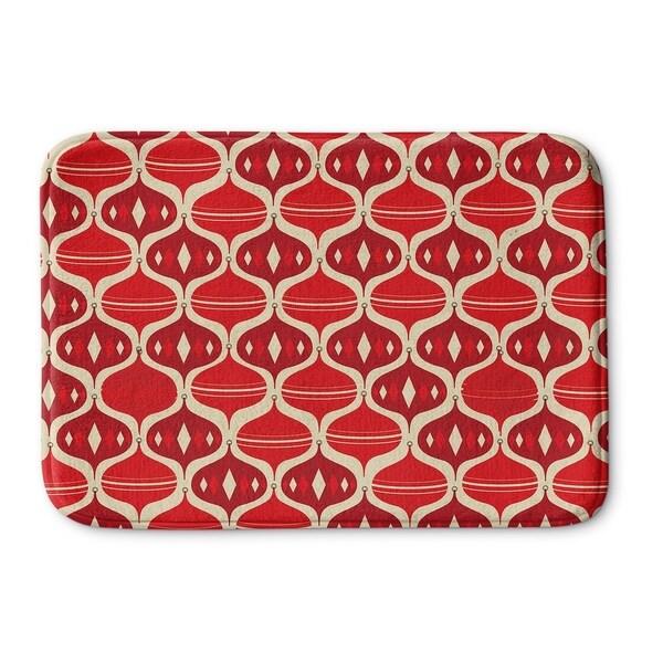 Kavka Designs Red/Ivory Holiday Ogee Memory Foam Bath Mat