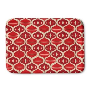 Kavka Designs Red/Ivory Holiday Ogee Memory Foam Bath Mat