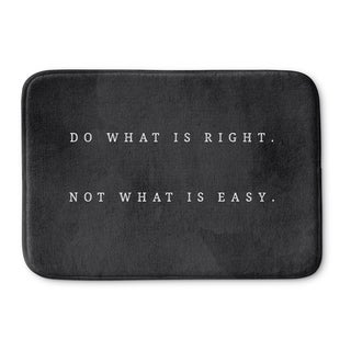 Kavka Designs Black/White Do What Is Right Memory Foam Bath Mat