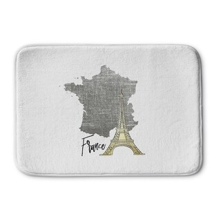 Kavka Designs Grey/Gold/White France Memory Foam Bath Mat