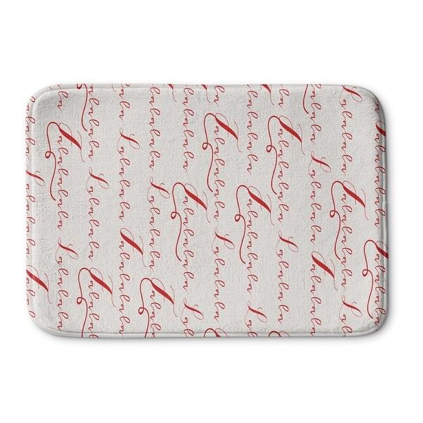 Kavka Designs Red/Ivory Lalala Memory Foam Bath Mat