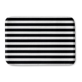 Kavka Designs Black/White Stripes Memory Foam Bath Mat