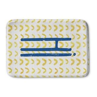 Kavka Designs Blue/Gold/White Hi Memory Foam Bath Mat