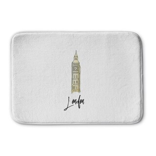 Kavka Designs Grey/Gold/White London Memory Foam Bath Mat